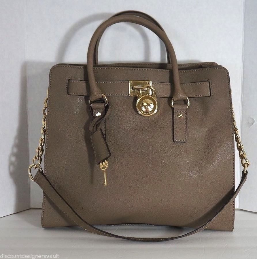 875f08b663f9 Michael Kors Hamilton Large Saffiano Dark Dune Leather North/South Purse  SALE $232.20 stores.ebay.com/discountdesignervault #MichaelKors #MK  #Designer ...