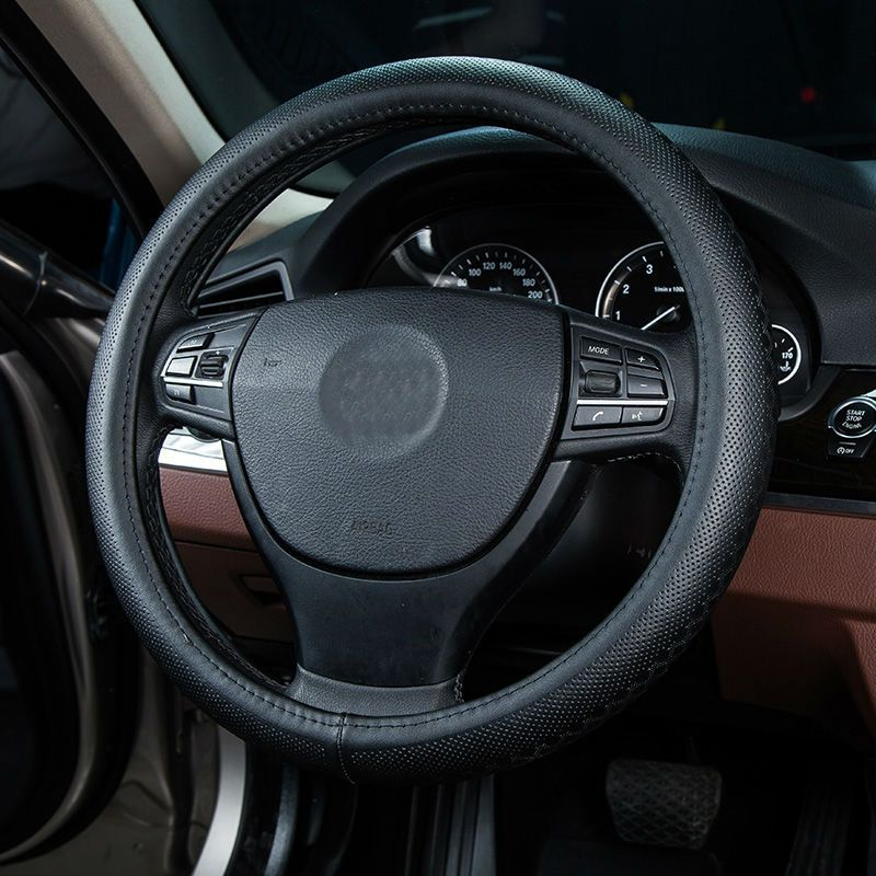 Car Steering Wheel Cover Genuine Leather Volante Size 38cm For