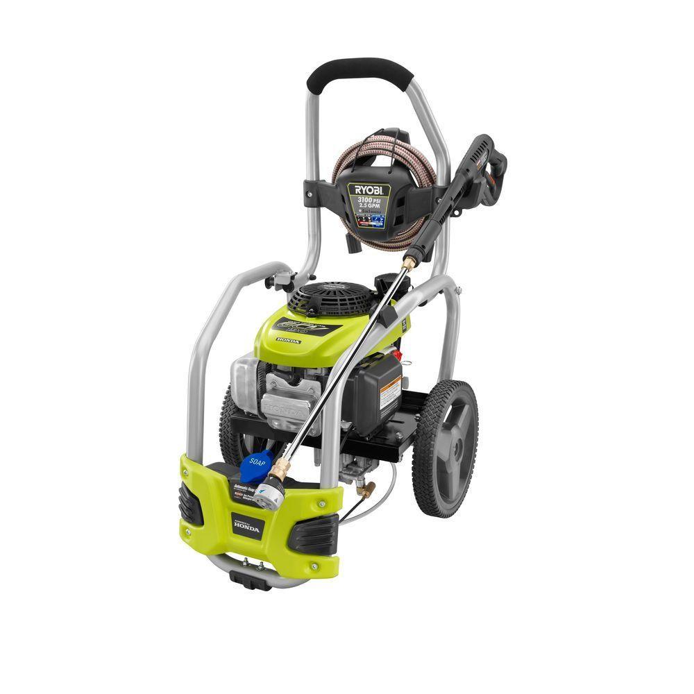 Ryobi 3 100 Psi 2 5 Gpm Honda Gas Pressure Washer With Idle Down