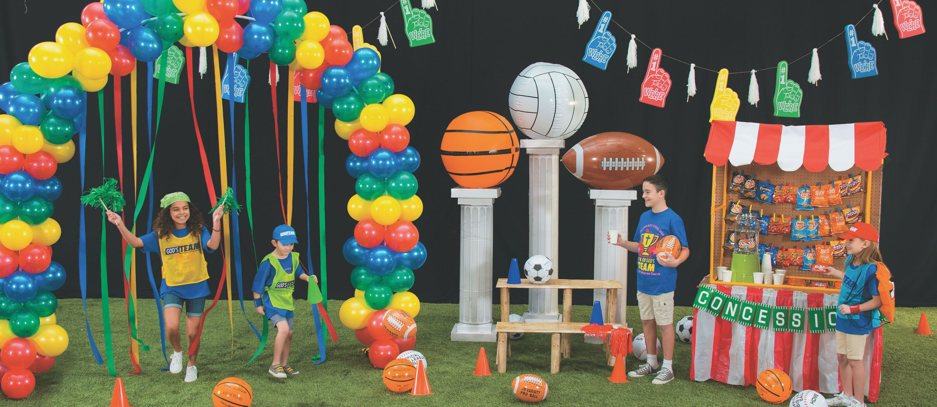 Sports Theme Vbs Ideas Sports Day Decoration Sports Decorations