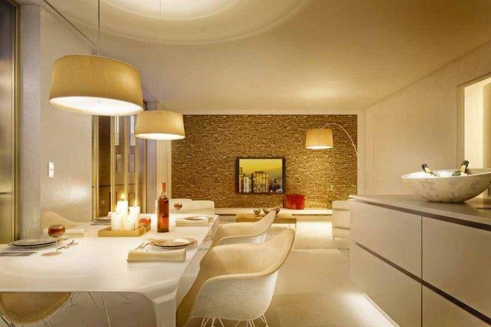 Stimmungsmache mit LED-Retrofits, dank moderner Dimmer Foto Jung - moderne wohnzimmer beleuchtung