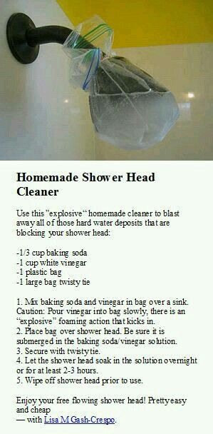 how to clean your shower head with vinegar
