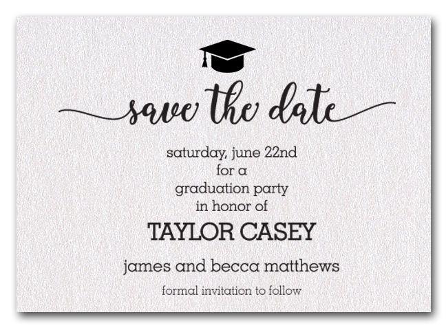 Shimmery Graduation Hat Save The Date Cards Announcingit Com High School Graduation Party Invitations Graduation Invitations Diy Graduation Invitations