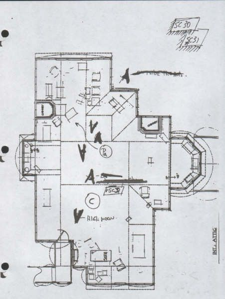 Quinta halliwell plano el tico charmed quinta for Charmed house floor plan