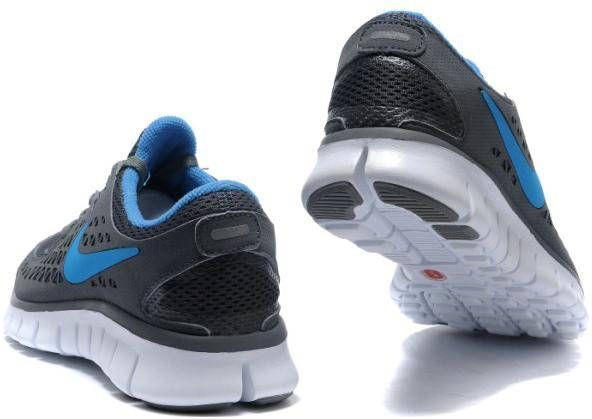 83ccffdaca11f Womens Nike Free Run+ Dim Grey Royal Blue Shoes