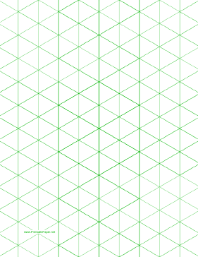 This LetterSized Isometric Graph Paper Has OneInch Figures
