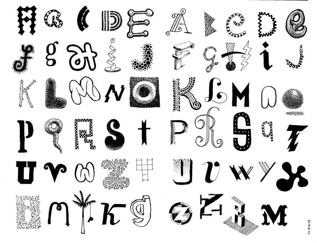 doodle letters | Lettering