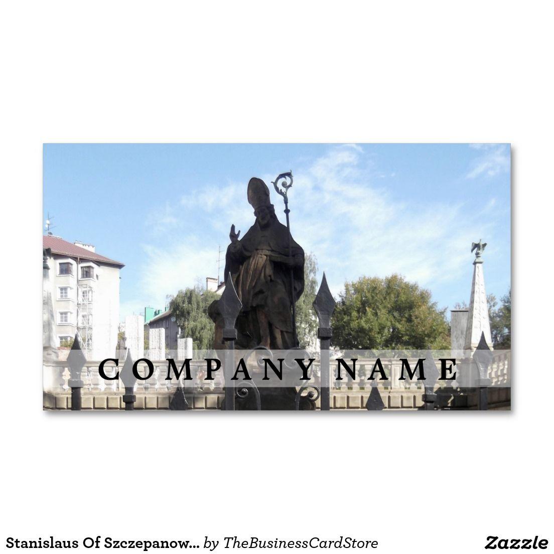 Stanislaus Of Szczepanow Statue, Kraków, Poland Business Card ...