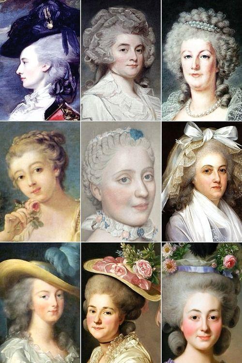 18th Century Woman's Hairstyles 03 Прически, Вечерняя