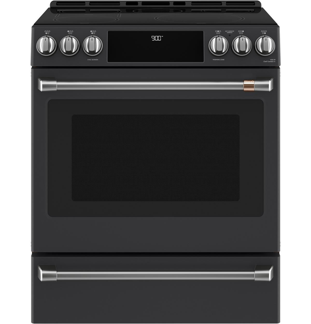 Cafe 30 Slide In Front Control Induction And Convection Range With Warming Drawer This Gas Range Double Oven Convection Range Gas Double Oven