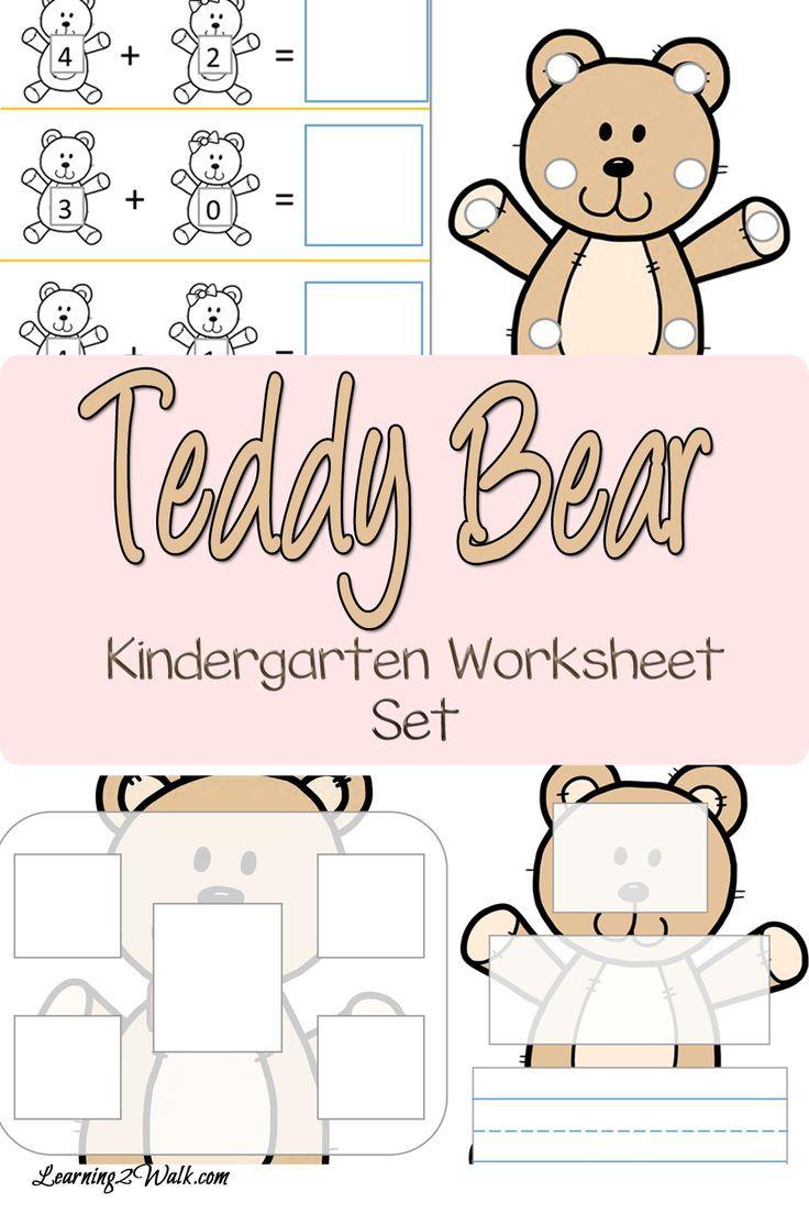 Teddy Bear Kindergarten Worksheet Set Preschool Fine Motor Activities Kindergarten Worksheets Kindergarten Worksheets Printable [ 1104 x 736 Pixel ]