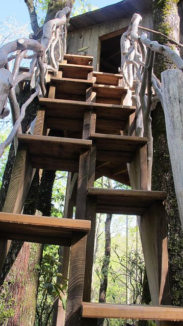 Treehouse Steps Alternating Tread Stairs Tree House Tiny House Stairs Playground Design