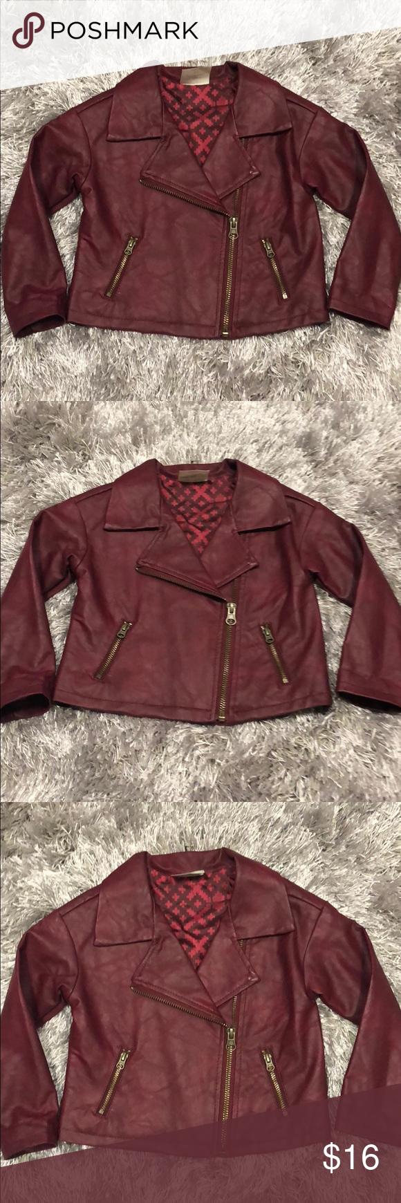 Toddler Burgundy Faux Leather Jacket Burgundy Faux Leather Jacket Leather Jacket Brands Clothes Design [ 1740 x 580 Pixel ]