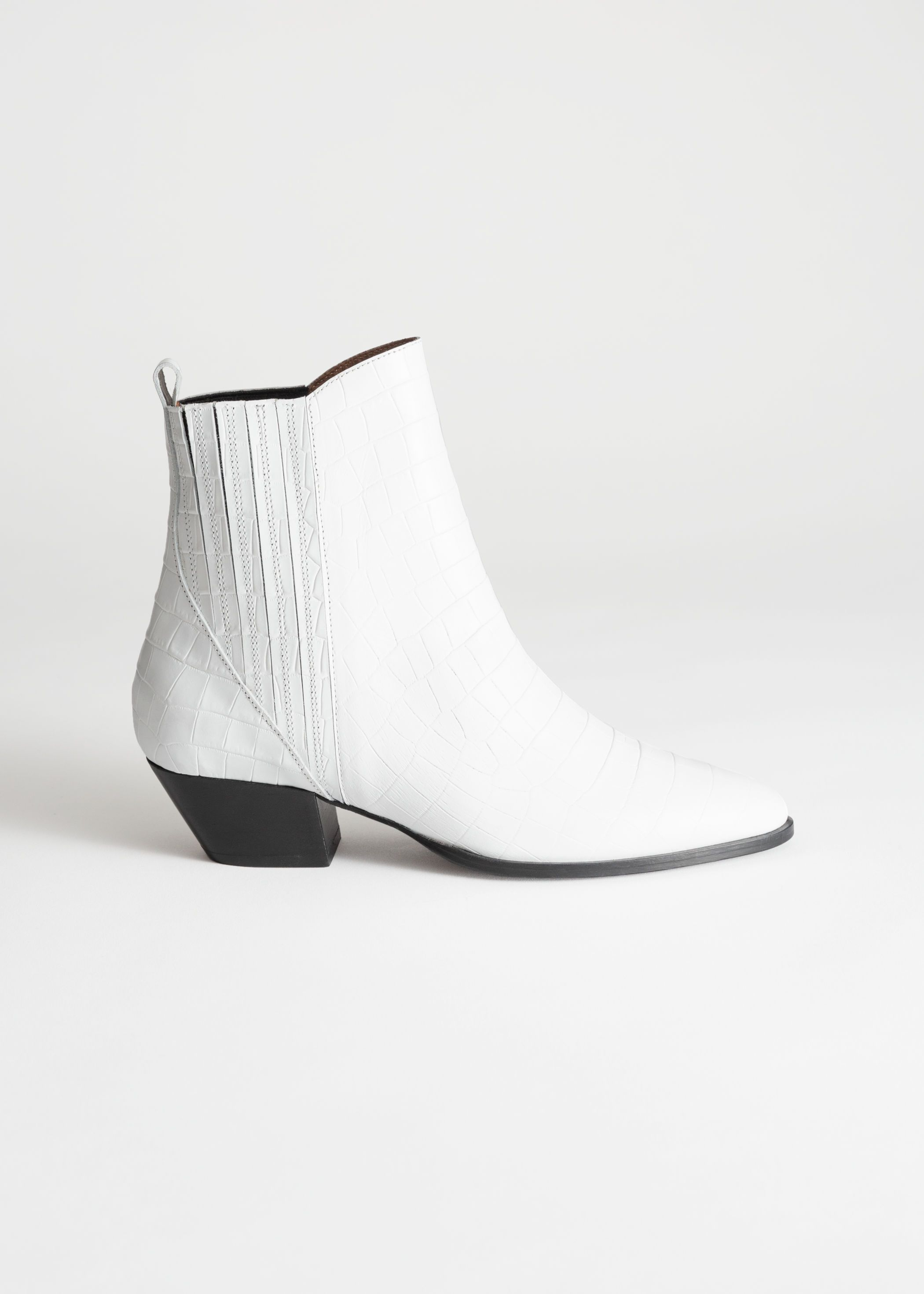 b40956695c3 Croc Embossed Low Cowboy Boots in 2019 | Shoes | Boots, Shoe boots ...