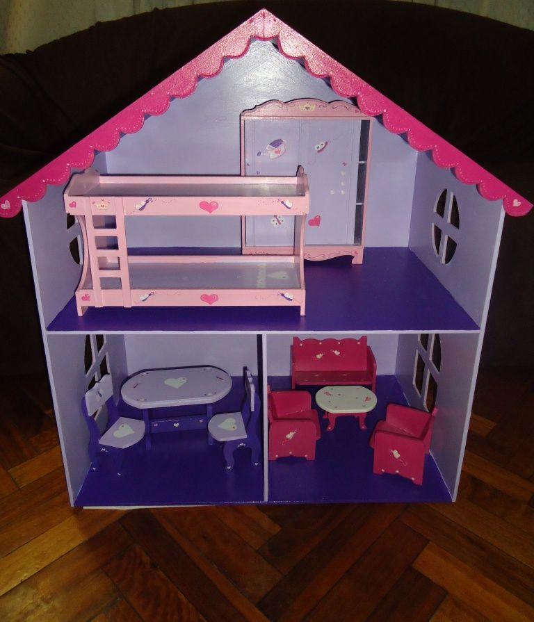 Casa de mu ecas barbies con muebles muebles para mu ecas pinterest - Como hacer muebles para casa de munecas ...
