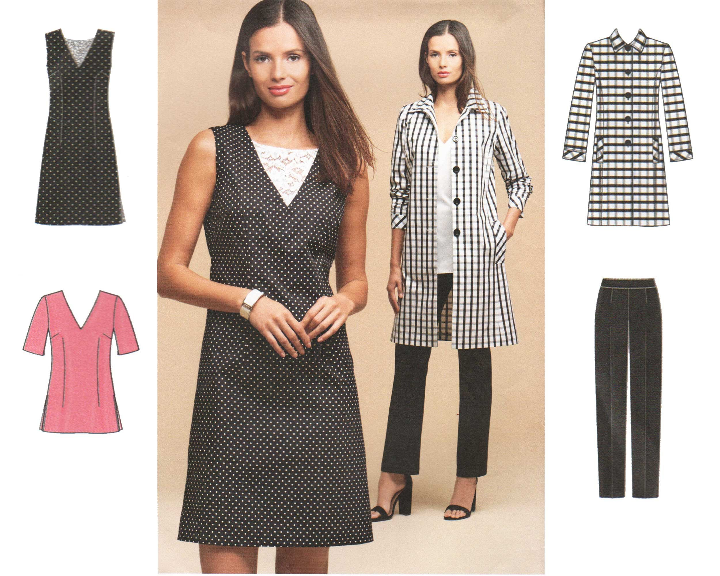 Simplicity SEWING PATTERN 8302 Misses Or Womens Dress//Tunic,Slim Pants /& Coat
