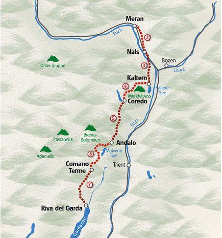 Italien Vandring Fra Dolomitterne Til Gardasoen Gardasoen