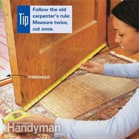 Installing Weather Stripping Door Sweeps Weather Stripping