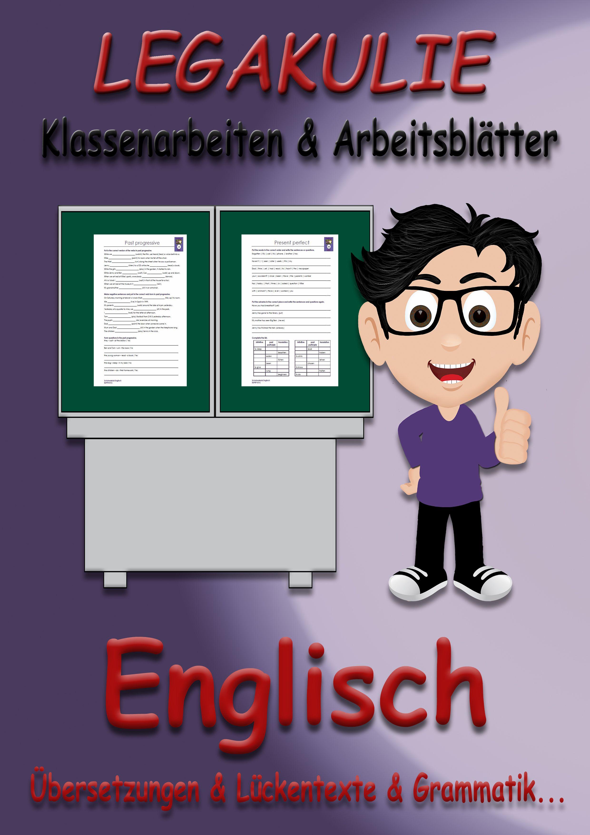 Englisch #Arbeitsblatt #Klassenarbeit #PDF Unterrichtsmaterial und ...
