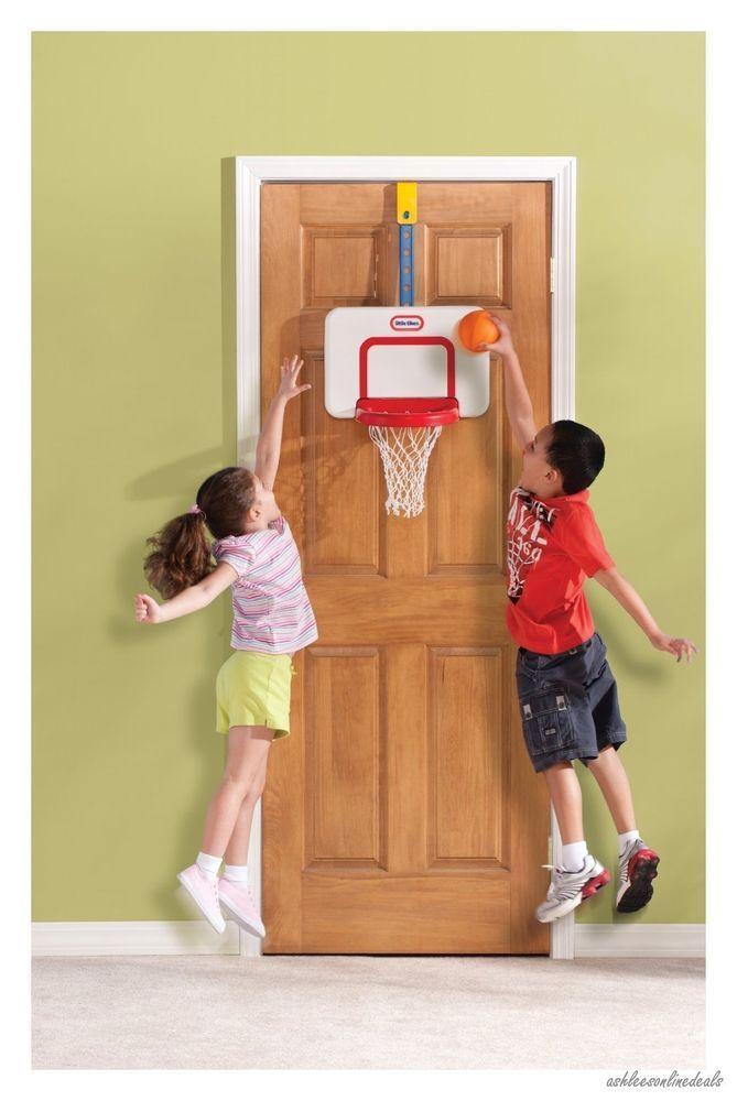 Over The Door Basketball Hoop & Ball Play Set Adjustable Kids ...