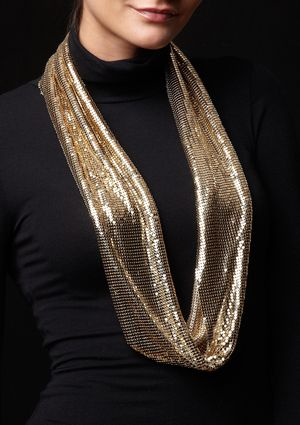 cara couture MESH INFINITY SCARF
