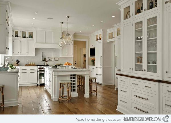 15 Traditional And White Farmhouse Kitchen Designs