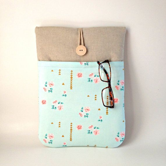 Womens iPad Air 2 Case with pocket Mint Green iPad by MadeByJulie ... 0faf7370cc