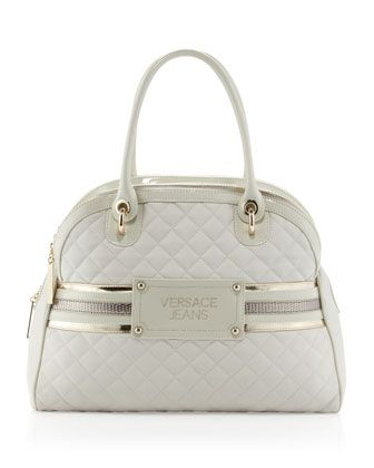 2062dc26d Trapezoidal Quilted Tote, Panna by Versace Jeans Couture at Last Call by Neiman  Marcus.