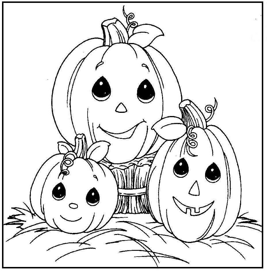 Cute Halloween Pumpkin coloring picture for kids | Halloween | Pinterest