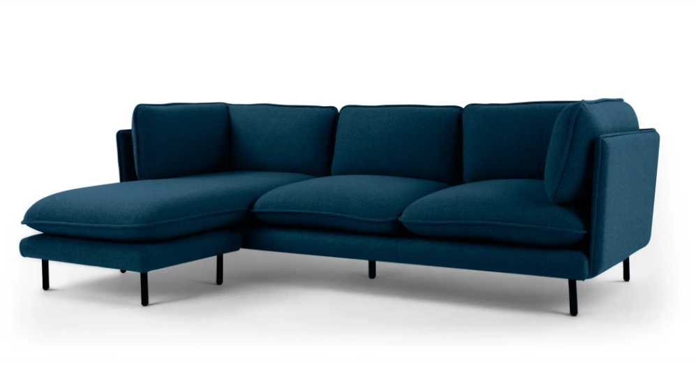 Wes 3 Seater Chaise End Corner Sofa Elite Teal Corner Sofa Teal Corner Sofas Sofa