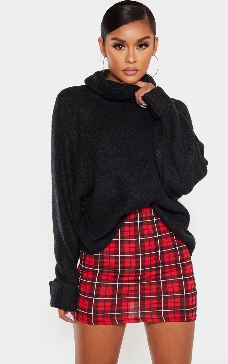 Tartan Check Print Mini Skirt