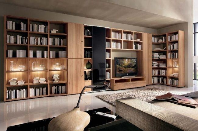 pastellfarben interieur ideen modernes haus bibliothek Shelves - ideen bibliothek zu hause gestalten