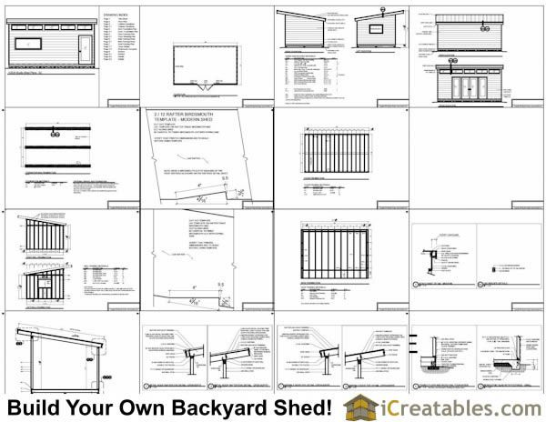 12x20 modern studio shed plans ideas for in and outside garage