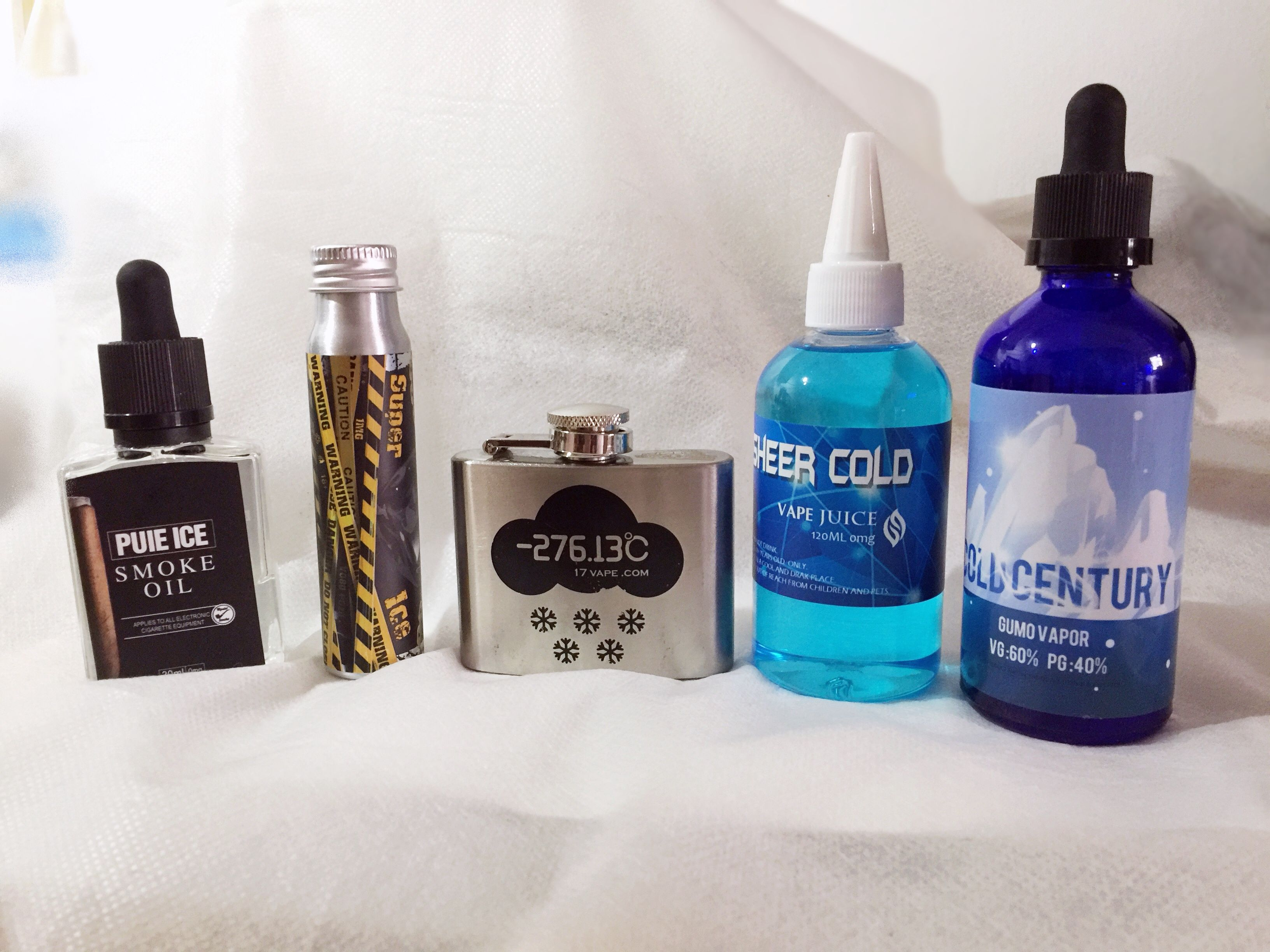My Series Of E Juice With Cooling Taste