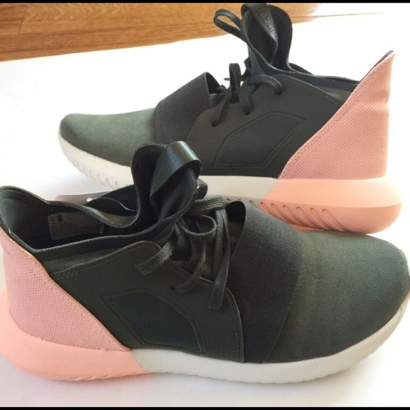 9302f56f6cbcb Women's Adidas Tubular Defiant - green/pink NEW WITH BOX AND TAG ...