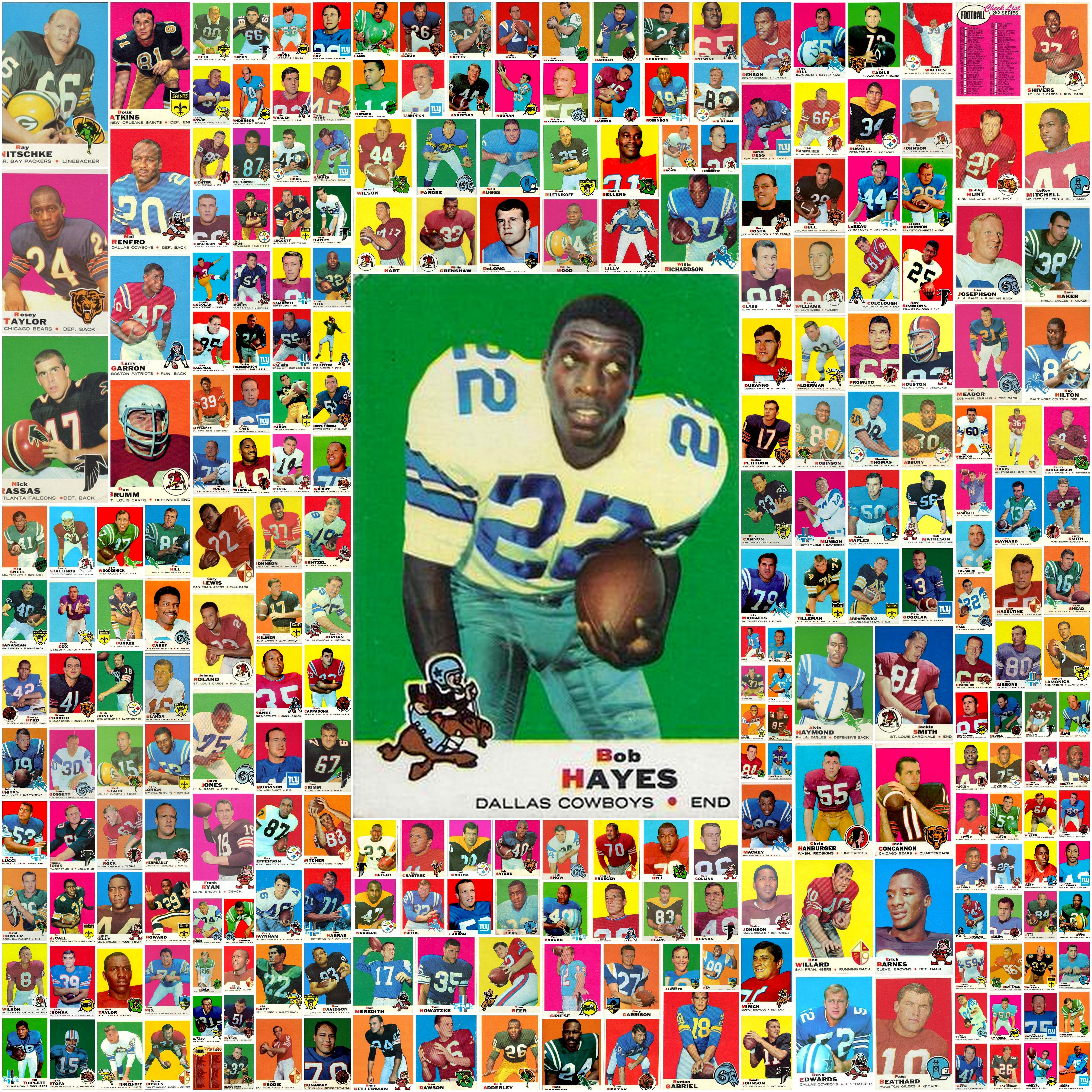 1969 topps football cards complete set collage topps