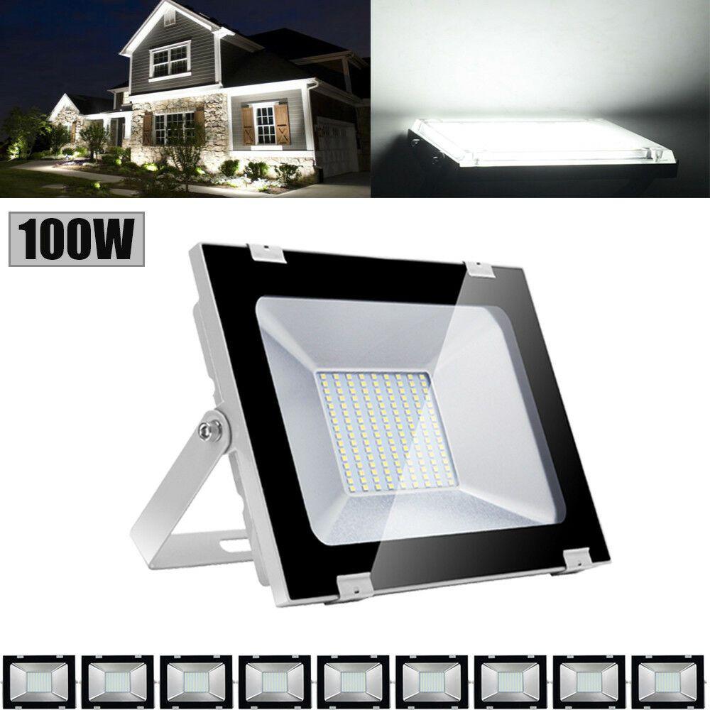 10x 100w Led Flood Light Cool White Outdoor Lighting Garden Lamp Ac110v Ip65 Led Flood Flood Lights Led Flood Lights