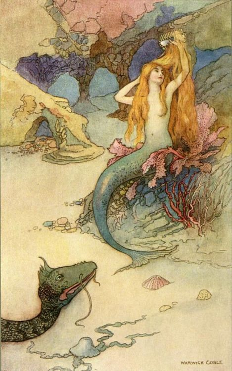The Mermaid and the Dragon  - by Warwick Goble