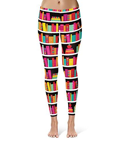 Library Book Case Leggings  L XS3XL Lycra Gym Yoga Full Length * You can find more details by visiting the image link.