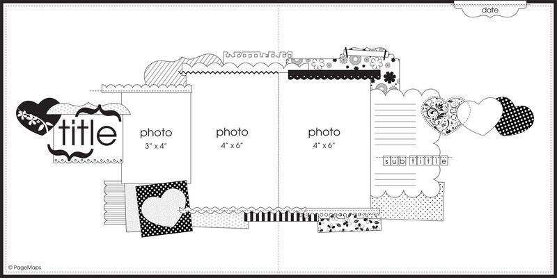 Double page scrapbook layout sketch check out this two page double page scrapbook layout sketch check out this two page 12x12 layout sketch and pronofoot35fo Gallery