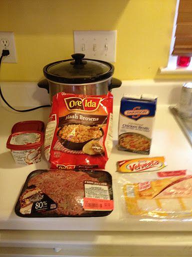 Crock pot Bacon Cheeseburger Soup!