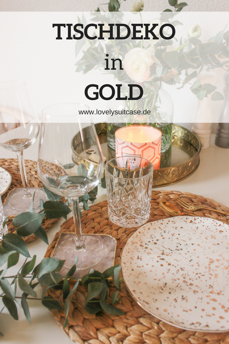 Tischdekoration In Gold Baby Interior Dekoration Pinterest