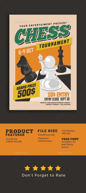Chess Tournament Flyer Sports Events Event Flyer Pinterest