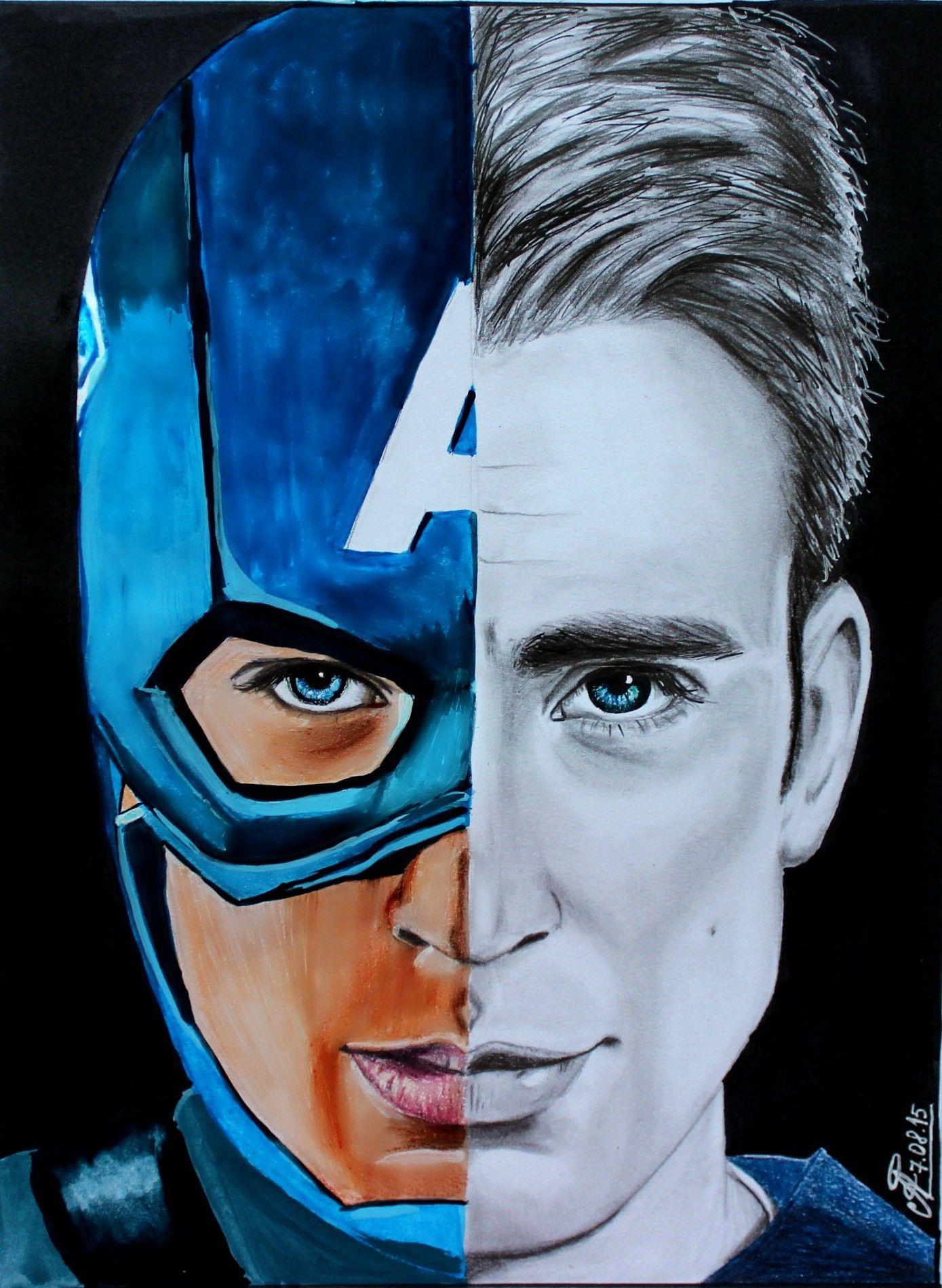 Steve Rogers Chris Evans Comics Cool Usa Patriot Marvel The