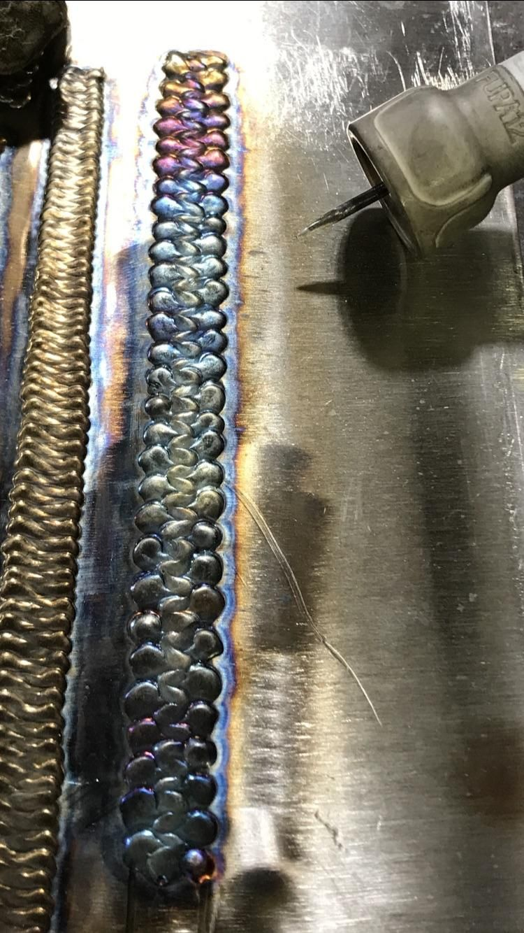 What Do You Guys Think Of My First Attempt At A Triple Dab Weave Welding And Fabrication Tig Welding Welding Crafts