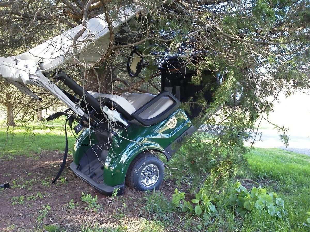 Worst golf cart accident ever? | Golf - Carts or Buggies | Pinterest on crane crashes, heavy equipment crashes, utv crashes, bus crashes, 4 wheeler crashes, golf buggy crashes, quad crashes, toy train crashes,