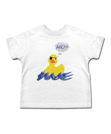 Take a look at this White 'Ahoy' Ducky Tee - Toddler & Kids by American Classics on #zulily today!
