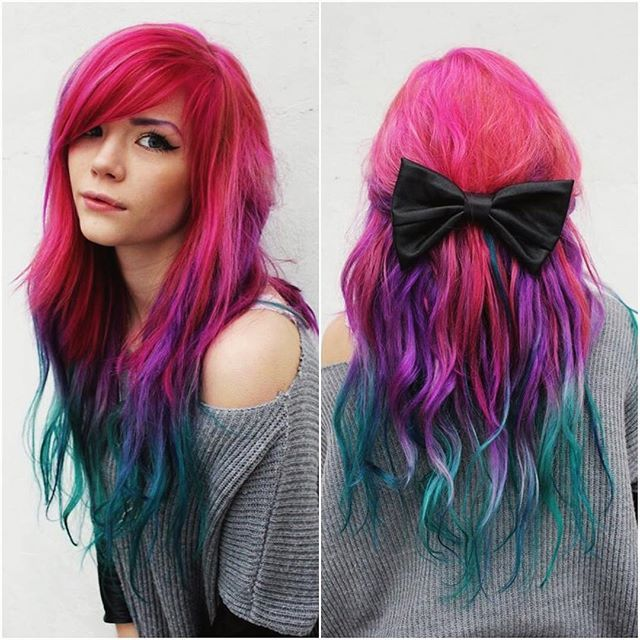 Arctic Fox Hair Color Is Vibrant Long Lasting Semi Permanent Hair Dye That Is Made In Pelo Verde Azulado Color De Pelo Permanente Color Purpura Para Cabello