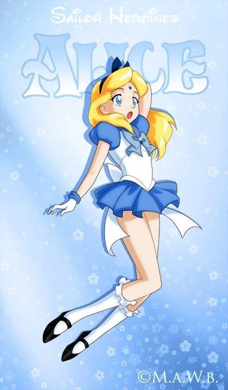 Disney Heroínas Re-Imaginado como personajes de Sailor Moon