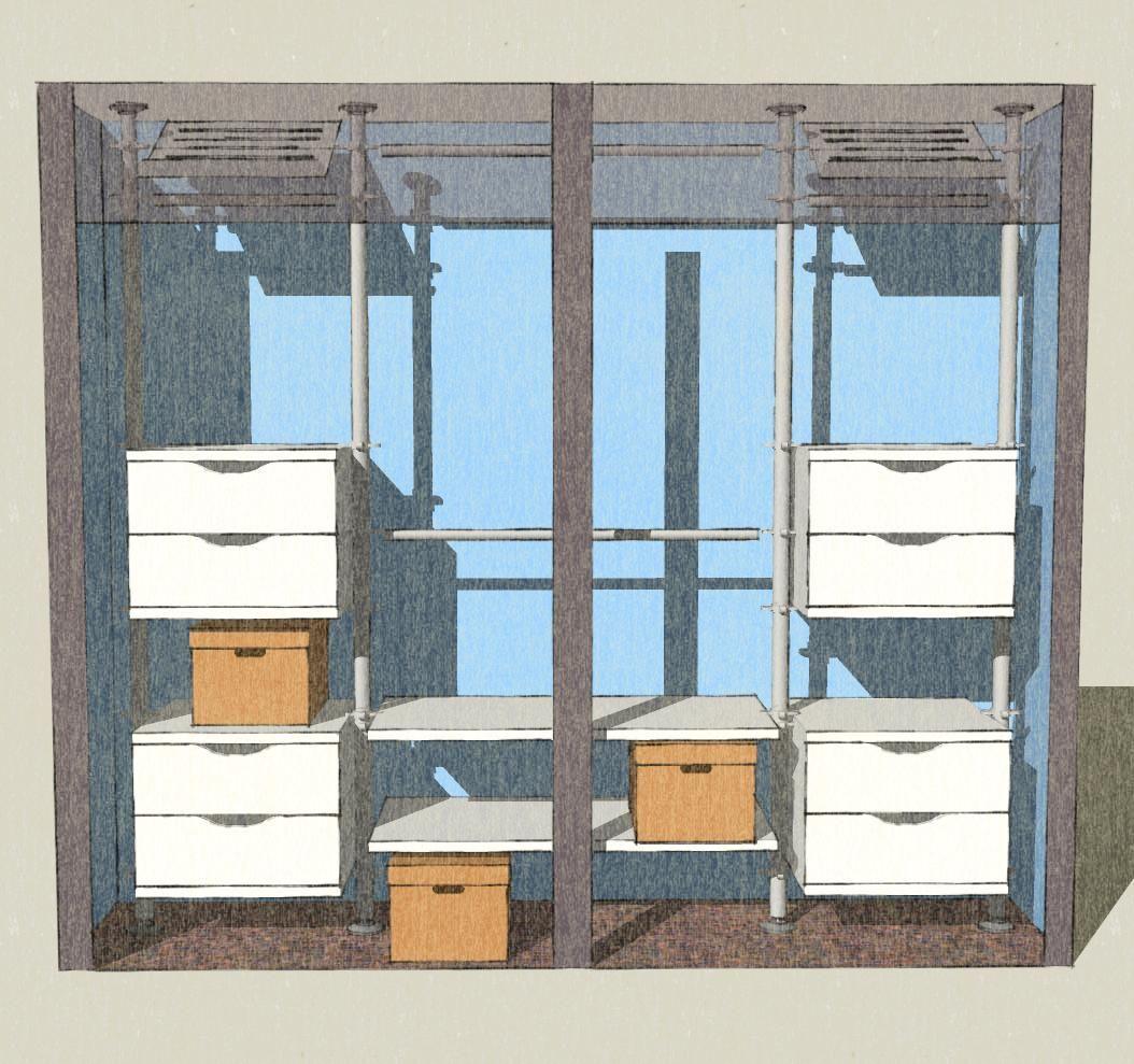 Stolmen Closet Design Using Google Sketchup Closet